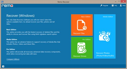 Drive Recovery Software - Main Screen